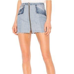 RE/DONE Core Denim Mini Skirt Denim in Blue